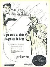 Publicité Advertising 107  1955  imperméable gabardine homme Nylfrance nylon