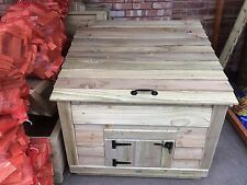 Wooden Coal Bunker/store, Assembled,twin layered,tanalised,heavy Duty,3 ft deep