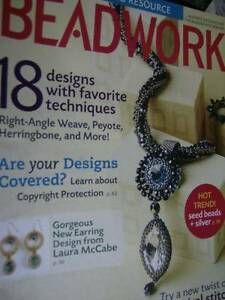 Beadwork Magazine October/November 2010- 18 Designs, Spiral Stitch, Earring Desi