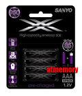 Sanyo Eneloop XX 950mAh AAA LSD Precharge NiMH Rechargeable Battery HR-4UWXB 4pc