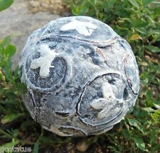 Latex Tuscan small garden ball cement plaster mold casting garden mould
