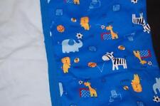 Blue Baby Boy 54 Sports Animal Receiving Blanket Solid Light Blue Lot 2