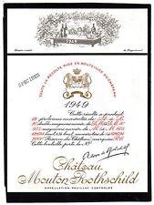 PAUILLAC 1EGCC ETIQUETTE CHATEAU MOUTON ROTHSCHILD 1949 73 CL DECOREE §22/04/17§