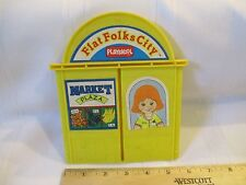 VTG 1990 Playskool Flat Folks City back piece replacement part only toy yellow