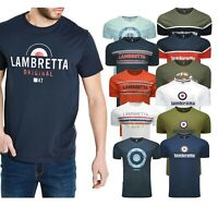 Lambretta Mens Plus Size Short Sleeve T Shirts Cotton Crew Neck Casual Tee Tops