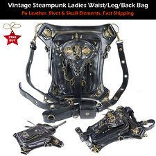 Retro Womens Steampunk Belt Bag Waist leg Hip Holster Purse Pouch Locomotive Bag