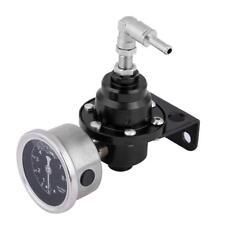 Universal Car 160psi Adjustable 1: 1 Fuel Pressure Regulator Oil Gauge Kit Black