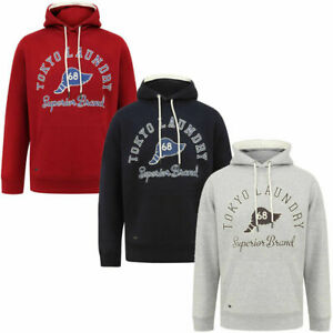 Men's Tokyo Laundry Casual Hoodie Pullover Hooded Jersey Jumper With Drawstrings