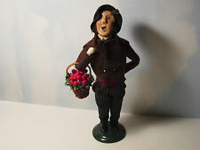 Byers Choice 1999 Handsome Victorian Man with Basket of Fruit
