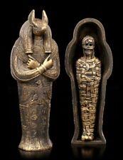 ANUBIS sarkophag con momia - Egipto Deidad Estatua Decorativa