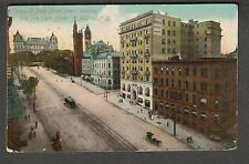 1910 Post Card State Street North Perrl Eyck Hotel Albany To Db Straight Peru Ny