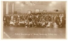 Postcard HMS King George V Dance Edinburgh 7th May 1919 RPPC 22
