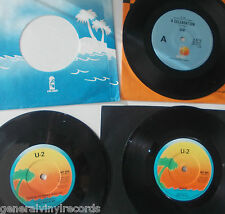 """7""""single;  U2  collection x3    a celebration / touch / a day without me    nm"""