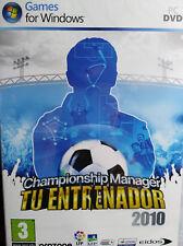 CHAMPIONSHIP MANAGER TU ENTRENADOR 2010. JUEGO PC. PAL-ESP. NUEVO, PRECINTADO.