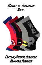 Mens / Boys Marvel Comics Superhero Avengers Socks Size 6-11 - Fast & Free Post
