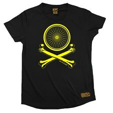 Bicycle Wheel Cross Bones Breathable Sports Round-Neck T-SHIRT Cycling Birthday