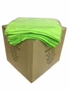 """240 Case 16""""x16"""" Economy Grade Microfiber Cleaning Cloths Auto 220GSM Green USA"""