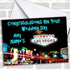 Las Vegas Wedding Day Customised Card
