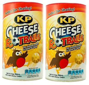 KP CHEESE FOOTBALLS CHRISTMAS SNACK 2 x 142 g STOCKING TREATS SWEETS WAFERS