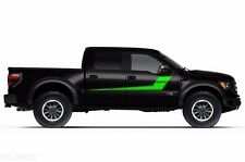 Vinyl Decal Rally Stripes Wrap Kit for Ford F-150 Raptor SVT 2010-14 Grass Green