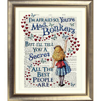 ALICE IN WONDERLAND DICTIONARY PAGE ART PRINT VINTAGE ANTIQUE BOOK BONKERS QUOTE