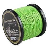 8 Strand 100M~1500M Fluorescent Green/Yellow PE Dyneema Braided Fishing Line