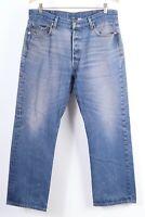 Vintage LEVI'S 501 Button Fly Denim Straight Leg Jeans MEXICO Mens Size 38X33