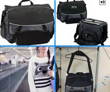 Black Messenger Bag Laptop Notebook Travel School Work Triple zip pockets under