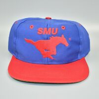 SMU Mustangs NCAA Vintage 90's Logo 7 Adjustable Snapback Cap Hat - NWT