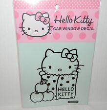 "HELLO KITTY CAR WINDOW DECAL Apple LUNCH BAG Hello Kitty Face BOW* 6"" x 6"" NEW"