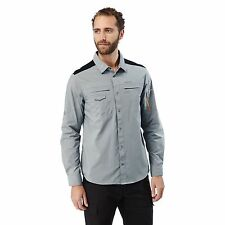 CRAGHOPPERS MENS DISCOVERY ADVENTURE LONG SLEEVE SHIRT QUARRY GREY CMS559