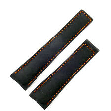 TAG HEUER 22MM BLACK FABRIC RACING STRAP W/ ORANGE ACCENTS NEW 100% AUTHENTIC