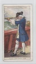 1930 Player's History of Naval Dress Tobacco Base #19 Post Captain 1748 Card 1x2
