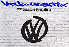 """Calcomanías con el logotipo de Volkswagen 17"""" VW Transporter T5 T4 Calcomanía caravanas Bonnet"""