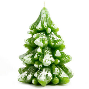 4.5-inch Green Holiday Tree Candle, Paraffin Wax Burn Time 20 hours, Unscented