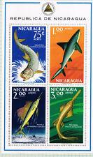 Nicaragua Fauna Tropical Marine Life big Fish Souvenir Sheet airmails 1966 MNH