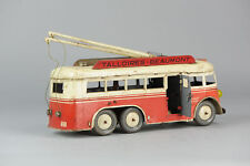 #Antique Tin Toy# French Joustra Bus Talloires-Beaumont Bell Working Rare