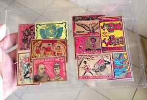 China Japan antique matchbox labels x 10 different varieties