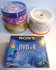 Lot of DVD-R & RW Memorex Verbatim Sony Blank 4.7GB DVDR NEW Media Bundle