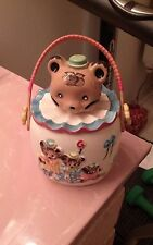 LIPPER & MANN Nursey Ryme The 3 Bears Biscuit Cookie Jar Bear Head Ceramic