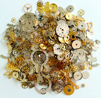 60g Steampunk Watch Movement Parts Gears Cogs Wheels Assorted Lot Industrial Art