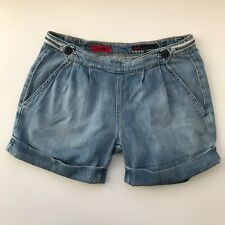 Adriano Goldschmied The Society Casual Cotton Cuff Denim Short, Size 27 inches