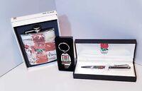 England Rugby Gift Set- Bottle Opener,Retro Hipflask & Pen - Ideal Gift