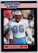 1989 Sean Jones - Kenner Starting Lineup Card - Slu - Houston Oilers