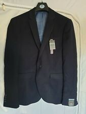 Mens Navy Blue Suit Jacket Size 40 S Primark