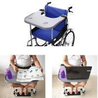 Abnehmbar Rollstuhl Tablett Tisch Ablage Rollstuhl Zubehör mit Becherhalter