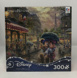 CEACO Thomas Kinkade Disney Mickey And Minnie In Paris 300 Piece Puzzle