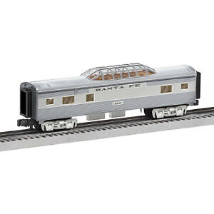 Lionel 684725 Santa Fe Add-On Vista Dome Train for Ready-to-Run Super Chief Set