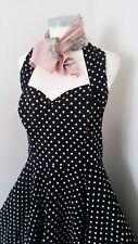 Vivien Of Holloway 50s Black & White Polka Dot Swing Dress Size 20 Rockabilly