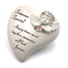 Someone Special Remembrance Cherub Heart Graveside Memorial Ornament DF17872P